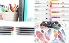 Starting or thinking of starting a journal? Here is the ultimate list of cheap must have bullet journal supplies you need to know about! Bullet Journal Essentials, Bullet Journal Cover Ideas, Bullet Journal Spread, Journal Covers, Bullet Journal Inspiration, Tombow Dual Brush Pen, Fineliner Pens, Monthly Themes, White Gel Pen