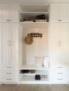 Jillian Harris design on Love It Or List It Vancouver MUD ROOM Guys! Remember when I said that last week's episode of Love It Or List It Vancouver was one of my FAVOURITES because it was the first time I took Leo to Entryway Cabinet, Entryway Closet, Entryway Storage, Entryway Ideas, Hallway Ideas, Country Entryway, Mudroom Laundry Room, Storage Cabinets, Vancouver