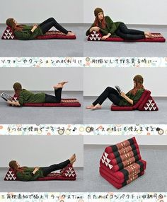 Triangle Pillow + Thai Mat... need to figure out how to make these!