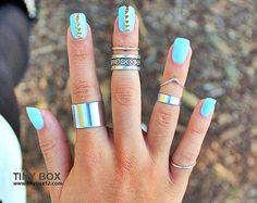 Anel prata - Anéis de falange, Anel falange - Anel Falange prata - Anéis delicados
