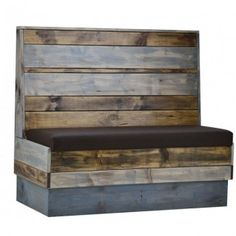 Commercial quality restaurant furniture indoor industrial recaimed wood booth seating. Order it now at ContractFurniture.com}