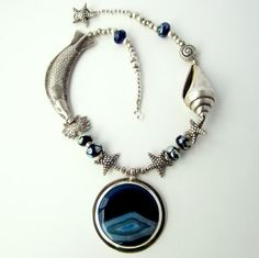Custom Made Necklace Set: Sea And Sky by Michas Creations, Inc. | CustomMade.com