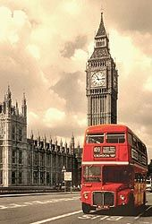 London travel guide brings you an old Route Master bus.