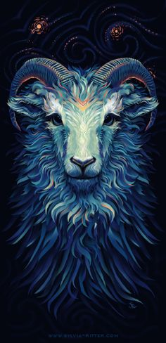 Blue Sheep - T-Shirt Design for MrSuicideSheep by SylviaRitter.deviantart.com on…