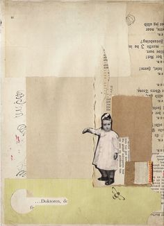 Fata Morgana: Collage, art journal page