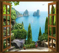 Фотообои Вид из окна на морскую бухту