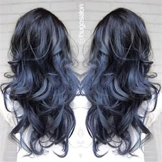 black blue gray balayage - Google Search