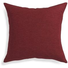 """Crate & Barrel Linden Merlot Red 18"""" Pillow with Feather-Down Insert ($20) ❤ liked on Polyvore"""