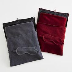 cashmere travel set from RedEnvelope.com Lux travel gift for her: eye mask and blanket. $249.95