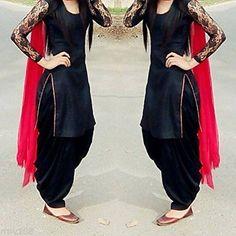 Latest Kurta Designs with Patiala Salwar Patiala Dress, Patiala Salwar Suits, Patiala Suit Designs, Punjabi Dress, Salwar Designs, Kurti Designs Party Wear, Churidar, Anarkali Gown, Lehenga Choli
