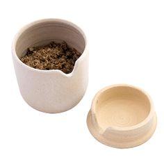 Keramiek zoutpotje met deksel - House of Salts