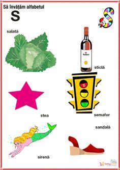 fise imagini reprezentative ale literelor din alfabet | Cu Alex la gradinita Oracle Cards, Kids Education, Alphabet, Homeschool, Playing Cards, Montessori, Learning, Baby, Crafts