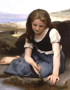 Paintings Reproductions Bouguereau, William Le crabe [The Crab], 1869