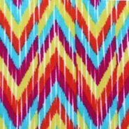 Anti Pill Fleece Fabric- Chevron Lkat