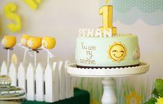 You Are My Sunshine Party Cake #sunshine #partycake