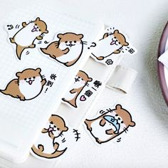 Make your diary or planner cuter than ever with these 'kawaii' Lovely Sea Otter Paper Stickers. Decorate your bullet journal spreads, scrapbooks, notebooks or any other creative projects with them. Cartoon Drawings, Easy Drawings, Otter Cartoon, Otters Cute, Otters Funny, Baby Otters, Whale Drawing, Kawaii Pens, Sea Otter