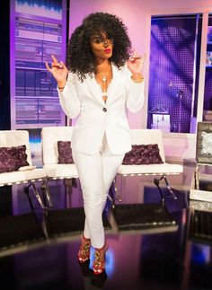 Rasheeda Frost Reunion Show White Suit. I always loved this Classy Outfits, Casual Outfits, Cute Outfits, Fashion Outfits, Fashionable Outfits, Women's Fashion, Reunion Dress, Hip Hop Atlanta, All White Outfit