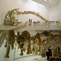 """Head On"" by Cai Guo-Qiang. I need to get back to Germany for this alone!"