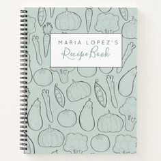 Shop Teal vegetable doodle recipe book created by GiftsbyWritelovely. Recipe Book Design, Cookbook Design, Cook Book Stand, Book Stands, Food Journal, Recipe Journal, Journal Ideas, Page Design, Diy Design