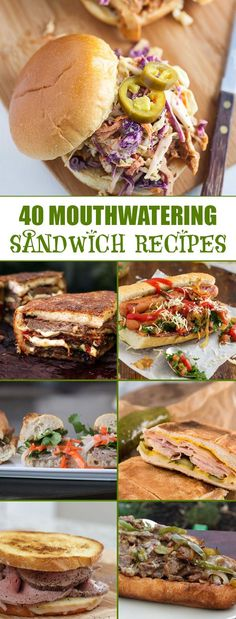 Feast your eyes on the ultimate sandwich collection. These recipes are sure to please...go make a sandwich! #NationalSandwichDay