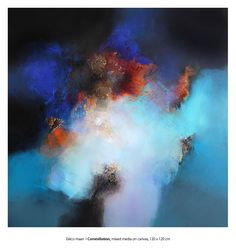 Eelco Maan  I  Constellation, mixed media on canvas, 120 x 120 cm  I  www.eelcomaan.nl  /  Sold