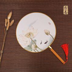 吉善折扇中国风宫扇女式团扇古风工艺汉服舞蹈古典圆扇子