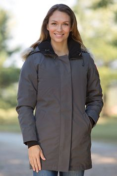 Women's Victoria Canada Goose Down Parka with Coyote Fur Trim by Overland Sheepskin Co. (style 30404)
