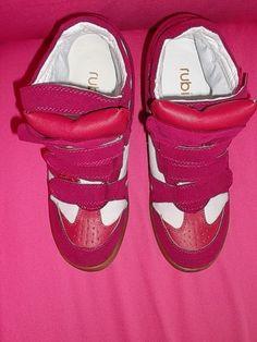 High Top Sneaker mit integriertem Wedge Keilabsatz weinrot/weiß BloggerSTYLE Gr. 38