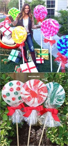 32 beautiful outdoor Christmas decorations & ideas on DIY lights, wreaths, garlands, wood signs & ornaments for the yard, porch & front door! #outdoorlights #diychristmaslights