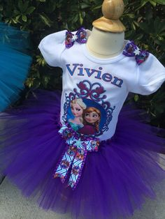 Elsa and Anna Outfit Elsa and Ana birthday by MillysDreamBoutique