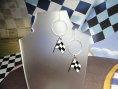 Checkered Flags Earrings by joolrylane on Etsy, $27.00