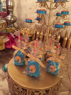 Rice Krispie treats at a Moroccan Quinceañera birthday party! See more party ideas at CatchMyParty.com!