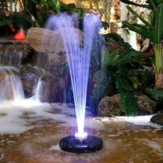 Alpine Add a playful spray head to your fountain or pond! The fountain sprays water into the air creating a soothing sight and a relaxing atmosphere, bringing vitality to an ordinary landscape. Joyful streams of water shoot 3 feet upward out of this floating apparatus, while 48 bright LED lights highlight the whole show. With an included anchor, you can be sure that your floating fountain stays in place. To use, simply plug in, place the floating head and