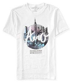 Aeropostale Mens Aero Nyc Logo Graphic T Shirt M Bleach
