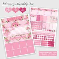 Free February Planner Stickers | Life with Mayra