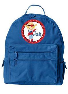 Cowboy Blonde  w/Name Jr. Backpack RBL