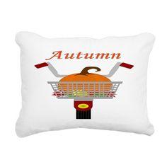 Autumn Bicycle Rectangular Canvas Pillow