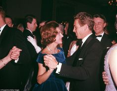Princess Margaret and Lord Snowdon dancing at the Canadian Universities Ball at Quaglino's in London in 1962