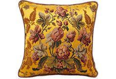 The colors and floral design are right to my taste!  Pillow from Michael Devine.