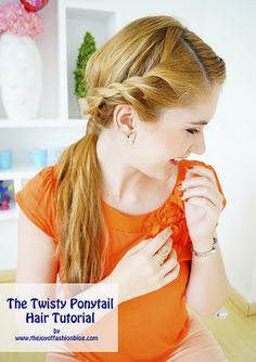 The Twisty Ponytail Hair Tutorial by the joy of fashion, via Flickr