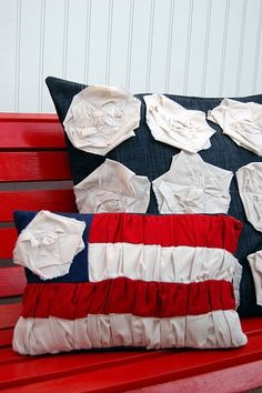 Flag Day Pillow {Tutorial} by bettye