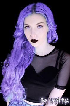 ira vampira emo girl scene queen pastel goth gothic extensions white hair…