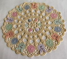 free crochet pattern easter doily | Gold Patterns. Free Patterns