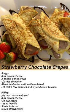 Strawberry Chocolate Crepes