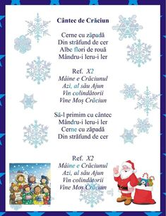Cantec de Craciun Anul Nou, Nursery Rhymes, Diy And Crafts, Christmas Cards, Kindergarten, Preschool, Language, Parenting, Songs