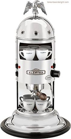 Vertical home espresso machine to use with ground coffee (we also provide an adapter kit for espresso machine). A real Italian espresso, contact Elektra now. Best Home Espresso Machine, Coffee Machine Best, Home Coffee Machines, Espresso Machine Reviews, Coffee Maker Reviews, Cappuccino Machine, Espresso Maker, Espresso Coffee, Best Coffee