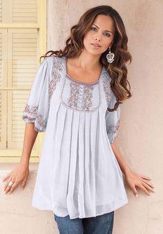 c9014ace05e Plus Size Mirielle Embellished Tunic by Denim 24 7