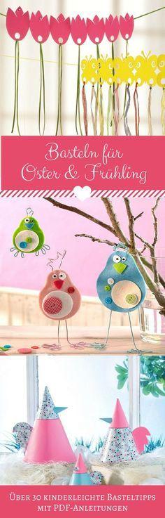 Viele tolle neue Basteltipps für den Frühling zum Anschauen und Sammeln autour du tissu déco enfant paques bébé déco mariage diy et crochet Diy Gifts For Kids, Winter Crafts For Kids, Spring Crafts, Diy For Kids, Kids Crafts, Diy Crafts Love, Color Crafts, Snow Globe Crafts, Christmas Crafts