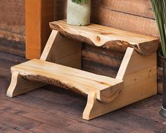Aspen Half Log Stepping Stool For Home Furniture Ideas With Wood Flooring