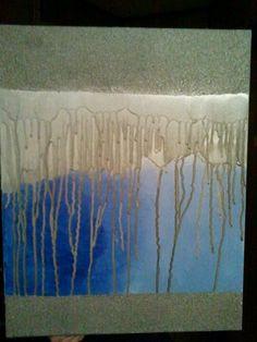 Raining spray paint